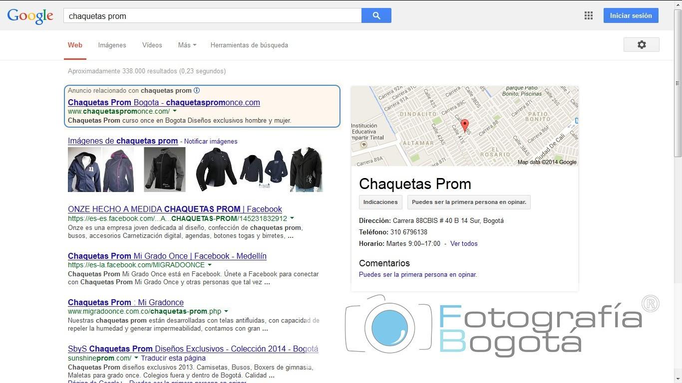 crear empresa primeros resultados en google SEM oncejacket